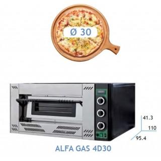 HORNO PIZZA GAS 4 PIZZAS DE 30 POTENCIA 16.1 KW DIM:100.5X93X56 CM