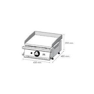 PLANCHA HR  GAS 5.3 KW  D: 430X480X250.MM. SOBREMESA