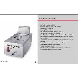 FREIDORA A GAS DE 12+12 LITROS CON ARMARIO SERIE 750
