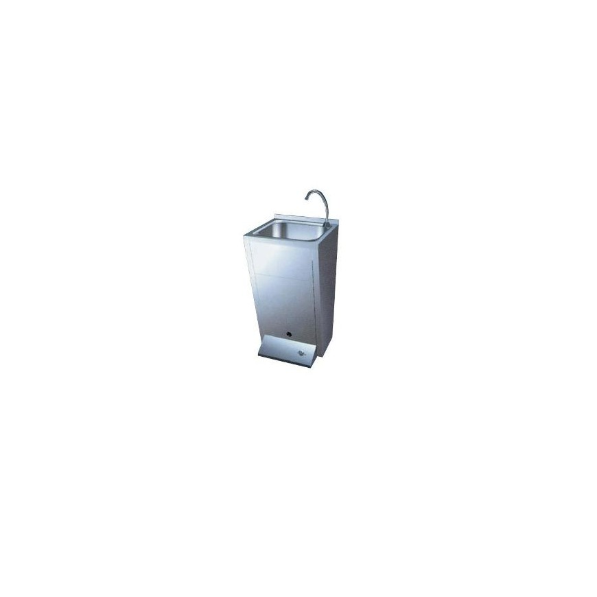 LAVAMANOS EN ACERO INOX. 45X45X85 cm