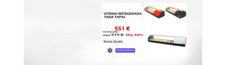 VITRINAS REFRIGERADAS SOBREMOSTRADOR