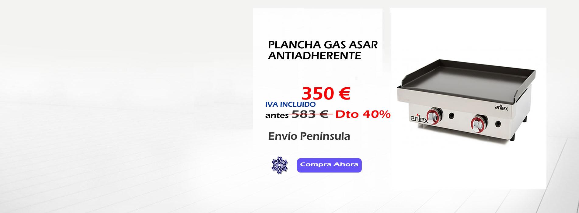 OFERTA ESPECIAL PLANCHA GAS ASAR